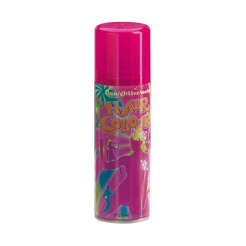 Rosa hårspray med fluoriserende farge