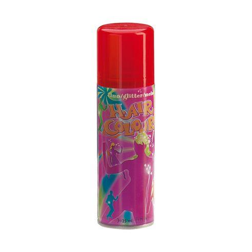 Rød hårspray med fluoriserende farge