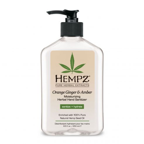 Hempz Orange Ginger & Amber Moisturizing Herbal Hand Sanitizer - 250ml