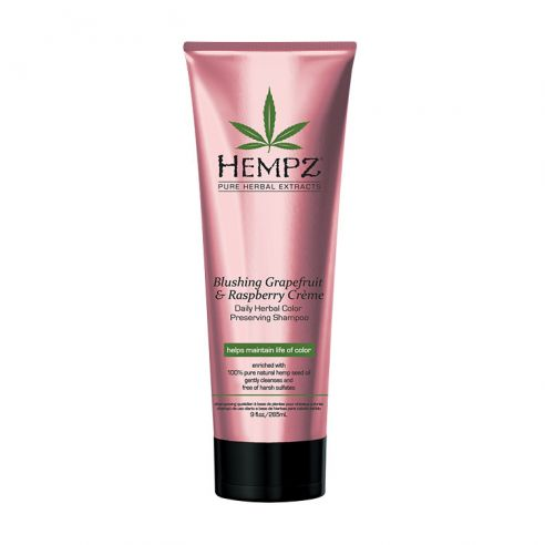Hempz Blushing Grapefruit & Raspberry Crème - Daily Herbal Color Preserving Shampoo - 265ml