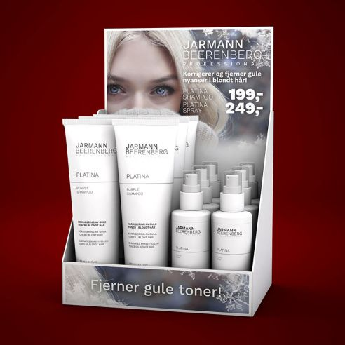 Display med Platina Shampoo og Spray