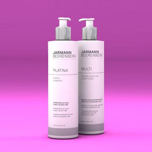 Platina Purple Shampoo og Multi Intense Conditioner