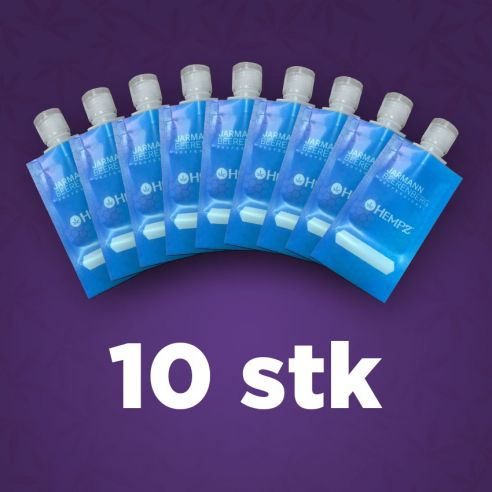 10 stk reiseposer til shampoo og balsam
