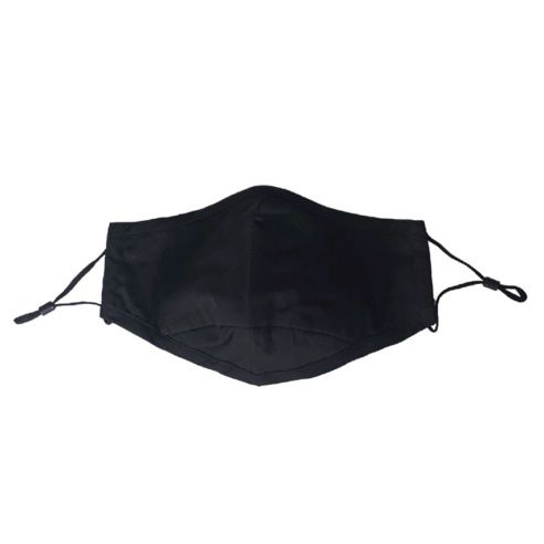 Munnbind - Sorte med justerbare stropper- og nesebøyle